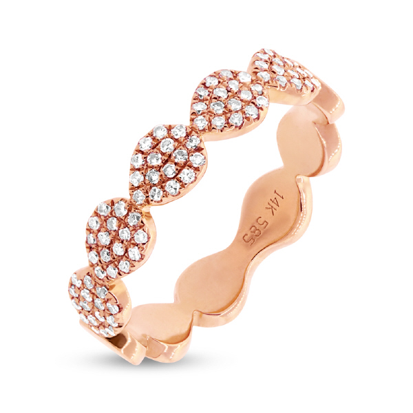 Rosé 14 Karat Stackable Fashion Ring by Shy Creation