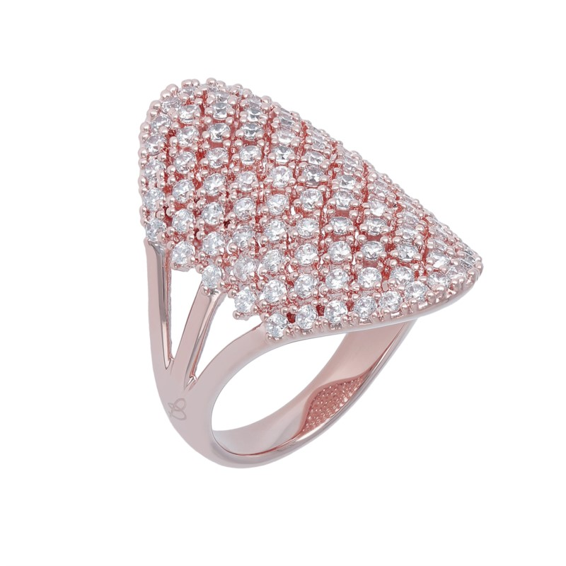 18K RG Plated Ring by Bronzallure